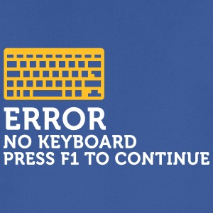 Error: No Keyboard. Please Press F1! - Men's Breathable T-Shirt