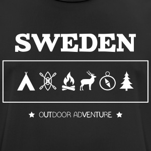 Sweden Outdoor Adventure Symbols - Men's Breathable T-Shirt