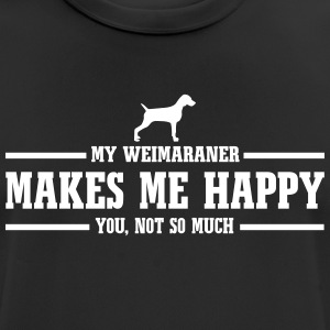 WEIMARANER makes me happy - Men's Breathable T-Shirt