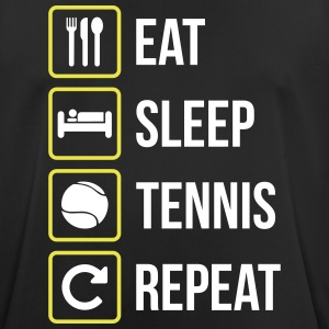 Eat Sleep Tennis Gentag - Herre T-shirt svedtransporterende