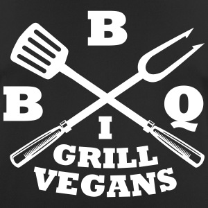 Barbecue in grill vegans (BBQ) - Men's Breathable T-Shirt