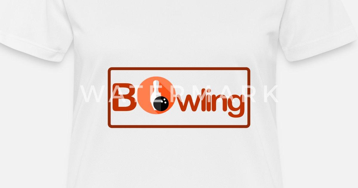 Avrundet ramme Bowling 1 G Sport T skjorte for kvinner