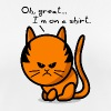 cat grumpy cat on shirt - Women's Breathable T-Shirt