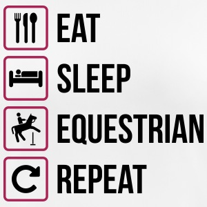 Eat Sleep Equestrian Repeat - Frauen T-Shirt atmungsaktiv
