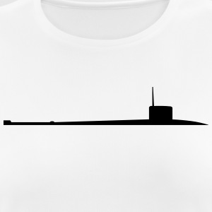 Vector Navy warship Silhouette - Women's Breathable T-Shirt