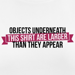 Objects underneath are larger - Women's Breathable T-Shirt