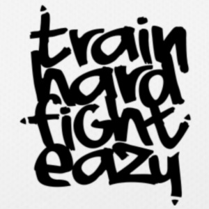 Train Hard Fight Easy Fitness Kollektion - Frauen T-Shirt atmungsaktiv