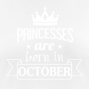 Princesses were born in OCTOBER - Women's Breathable T-Shirt