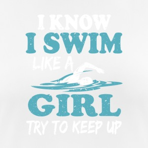 Swimmer girl - Women's Breathable T-Shirt