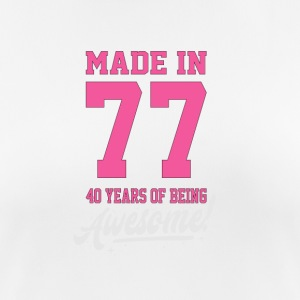 MADE IN 1977 - 40TH BIRTHDAY - Women's Breathable T-Shirt