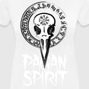 Rune Circle med Crows skallen - Pagan Spirit - Andningsaktiv T-shirt dam