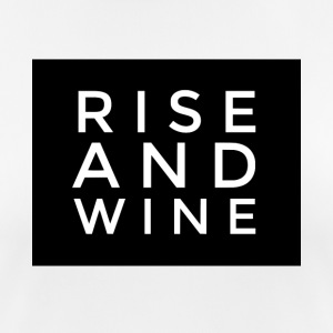 Rise and Wine, dricker pub rolig t-shirt - Andningsaktiv T-shirt dam