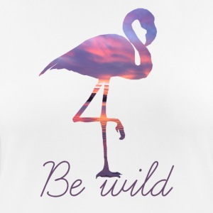 FLAMINGO BE WILD - Women's Breathable T-Shirt