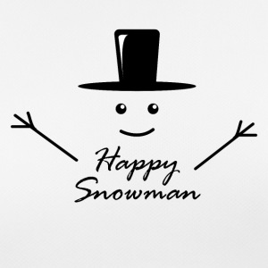Happy snowman cheerful snowman winter snow - Women's Breathable T-Shirt