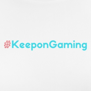 #KeeponGaming Red & Cyan - Pustende T-skjorte for kvinner