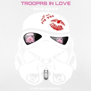 Stromtrooper in Love - Smiling Troopa - save space - Frauen T-Shirt atmungsaktiv