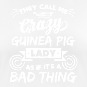 Crazy guinea pig lady funny sayings - Women's Breathable T-Shirt