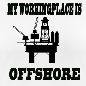 MY WORKINGPLACE IS OFFSHORE - Women's Breathable T-Shirt