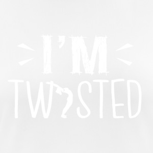 YOGA ,,I'm twisted'' - Frauen T-Shirt atmungsaktiv