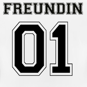 Freundin - Black Edition - Frauen T-Shirt atmungsaktiv