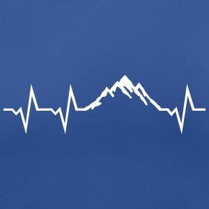 Mountain and ECG Heartbeat