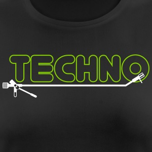 techno turntsble - Andningsaktiv T-shirt dam