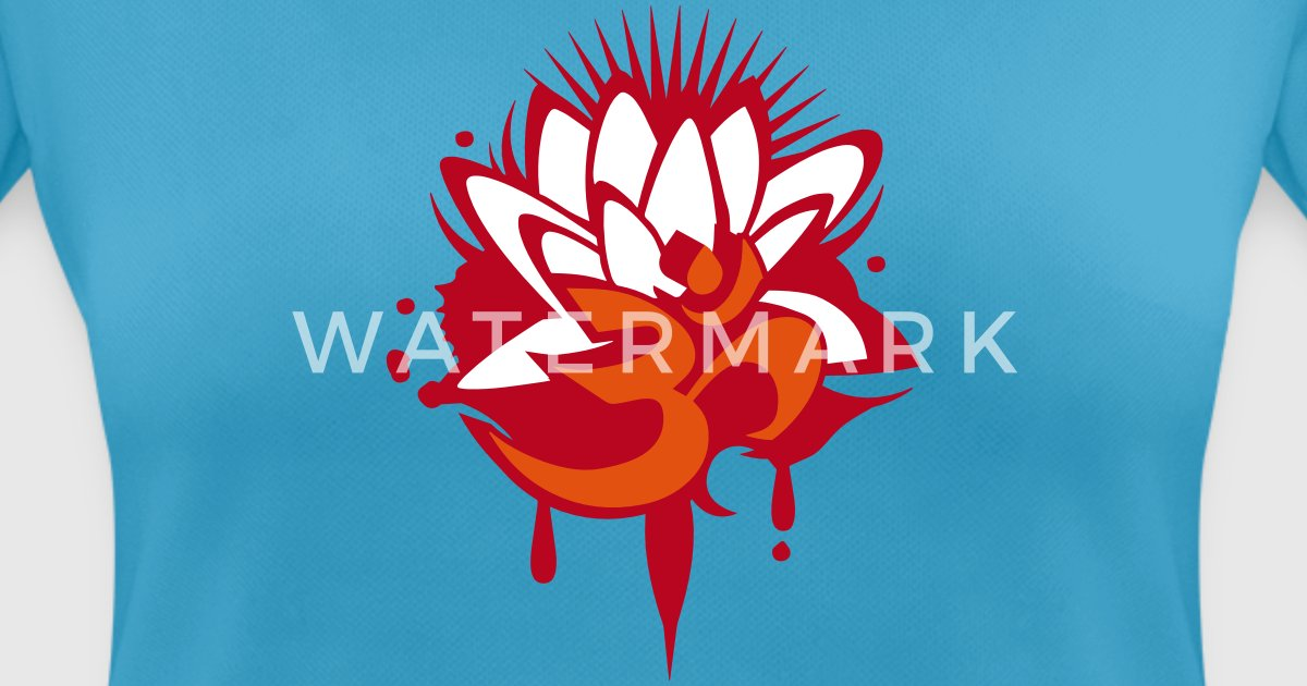A lotus flower with om symbol by namo spreadshirt mightylinksfo