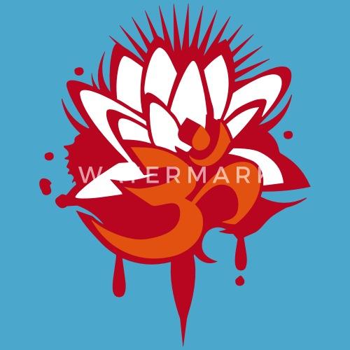 A lotus flower with om symbol by namo spreadshirt mightylinksfo