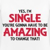 Yes, I'm single... - Women's Breathable Tank Top