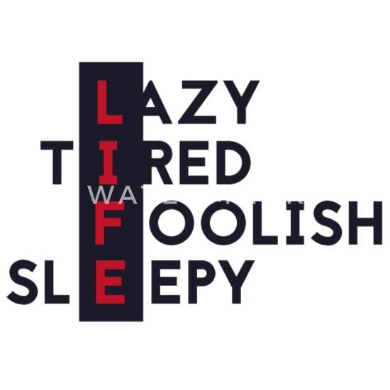 Lat trøtt liv (liv) kryssord Stoffveske   Spreadshirt