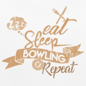 EAT SLEEP BOWLING REPEAT - Frauen Tank Top atmungsaktiv