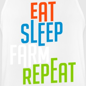 Eat Sleep Farm Repeat cool - Men's Breathable Tank Top