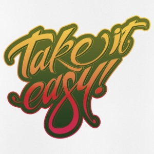 Take it easy geel-rood - Mannen tanktop ademend