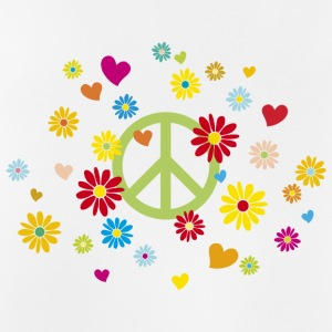 Peace sign flower heart flower power Valentine's Day - Men's Breathable Tank Top