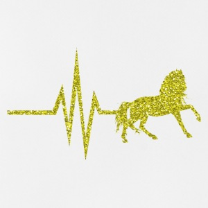 My heart beats for horses - horse gold glitter - Men's Breathable Tank Top
