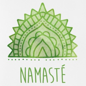 Yoga Namaste lettering symbol green - Men's Breathable Tank Top