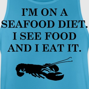 Diets with seafood - Men's Breathable Tank Top