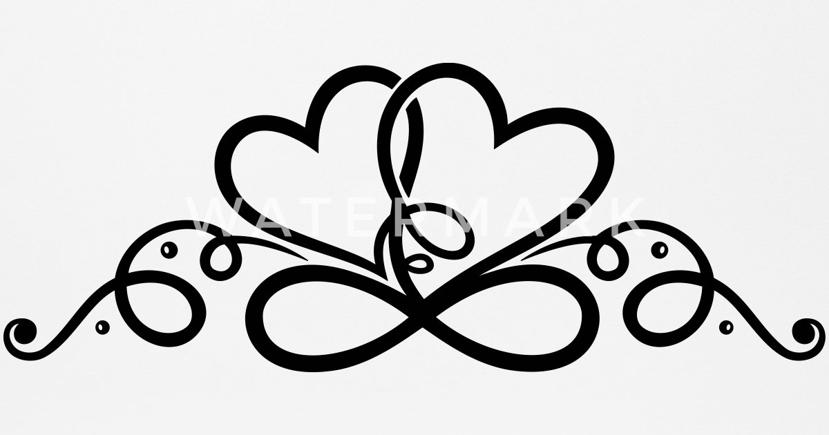 Two Hearts In Love With Infinity Symbol By Christine Krahl
