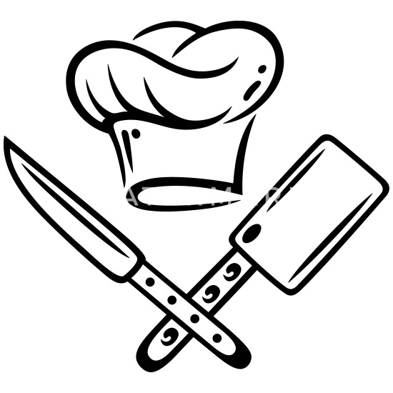 cooking hat with knives mouse pad  spreadshirt