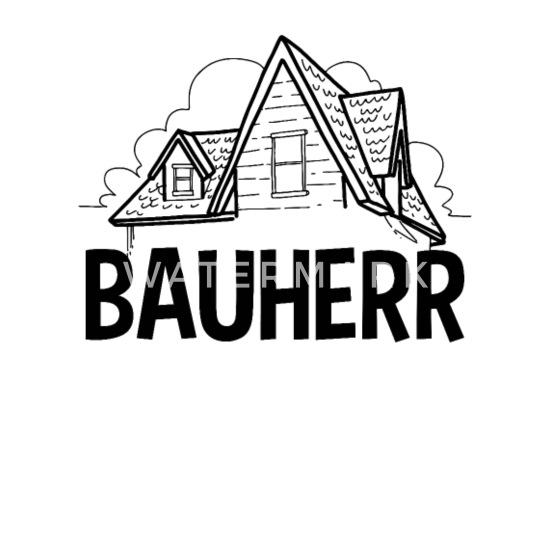 Bauherr Bauen Eigentum Richtfest Hausbau Geschenk Mousepad (Querformat) -  Weiß