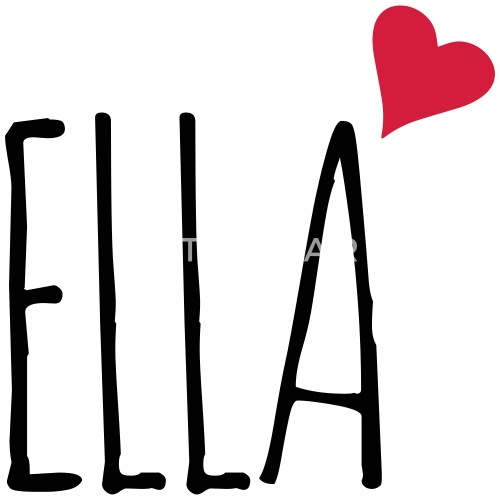 6251d57d8855fc Ella love heart gift - Mouse Pad. Front. Design