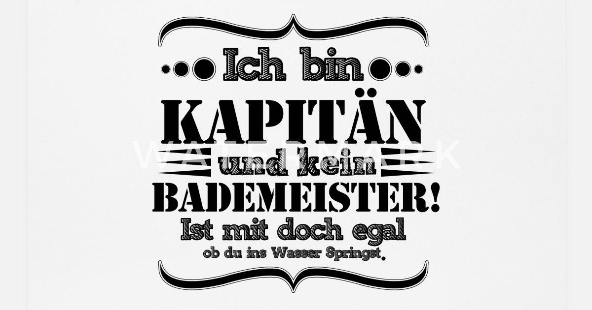 Lustiger Kapitän Spruch Für Boot Fahrer Mousepad Spreadshirt