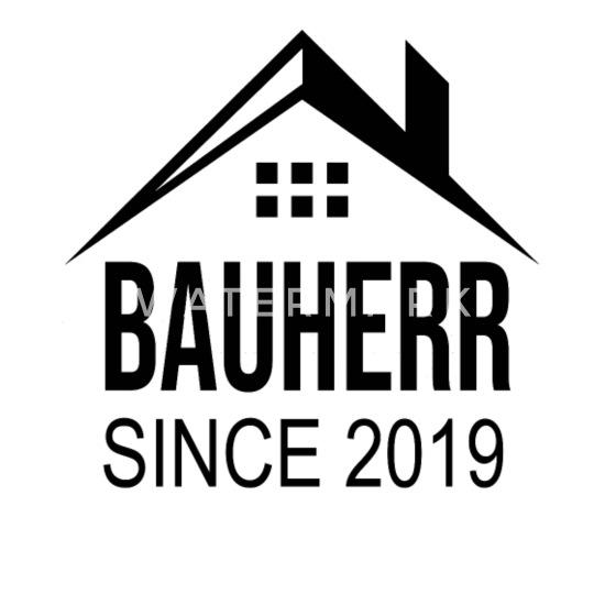 Bauherr 2019 Hausbau Richtfest Geschenk Mousepad Querformat Weiß