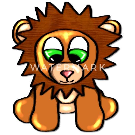 süßer baby löwe mit großen augen mousepad  spreadshirt