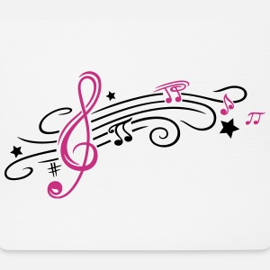 Music, clef with stars and music notes