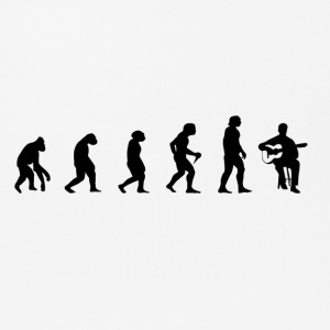 Evolution of musicians guitar instrument music - Mouse Pad (horizontal)
