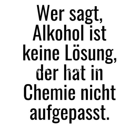 Witziger Alkohol Ist Keine Lösung Spruch Untersetzer 4er Set Weiß