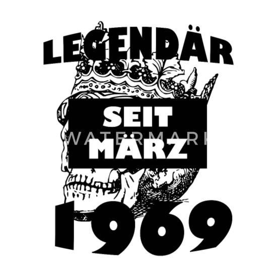 innovative design 603ae bbc2b Legendär seit März 1969 Geburtstag 50 Jahre Idee Untersetzer (4er-Set) -  Weiß