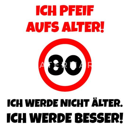 Lustiges 80 Geburtstag Party Geschenk Untersetzer 4er Set Weiß