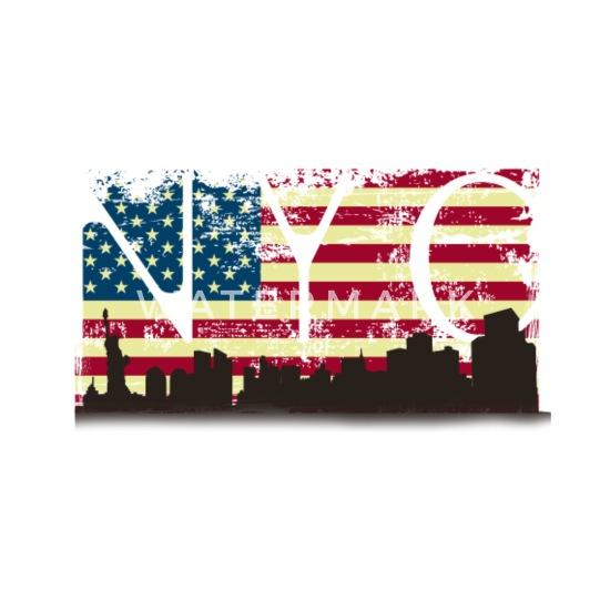Idee Cadeau Etats Unis.Amerique Etats Unis Ny Cadeau Idee Cadeau Dessous De Verre Lot De 4 Blanc